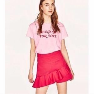 Zara Pink Skort NWT